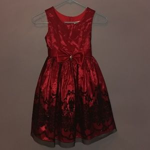 Sorbet size 7 red & black sparkly girl's dress